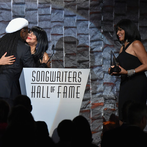 Awarding Nile rodgers at the Songwriters Hall of Fame, NYC, 2016