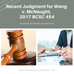 Recent Judgment for Wang v. McNaught, 2017 BCSC 454