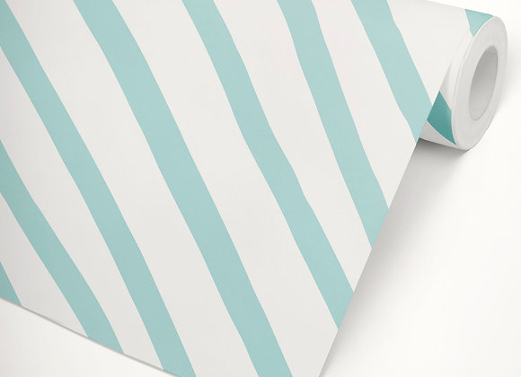 Papel de Parede Tenda Azul Piscina