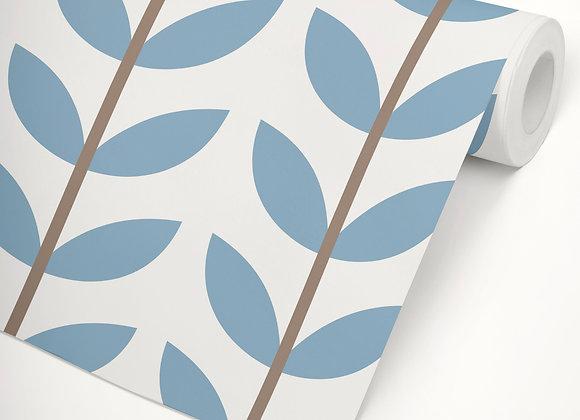 Papel de Parede Filó azul vintage