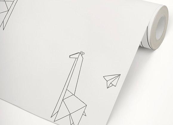 Papel de Parede Girafa Origami