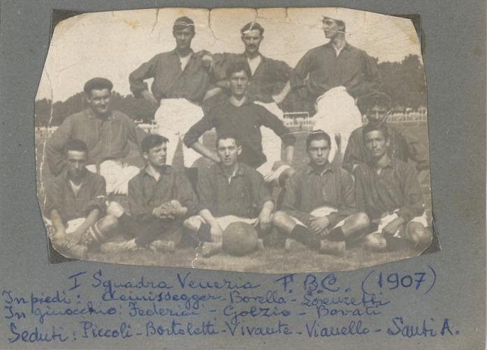 La prima formazione del Venezia Foot Ball Club