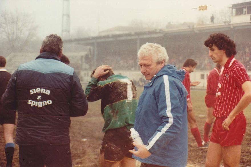 29/01/1984 Gino Turlon al termine di Venezia-Mantova (1-0)