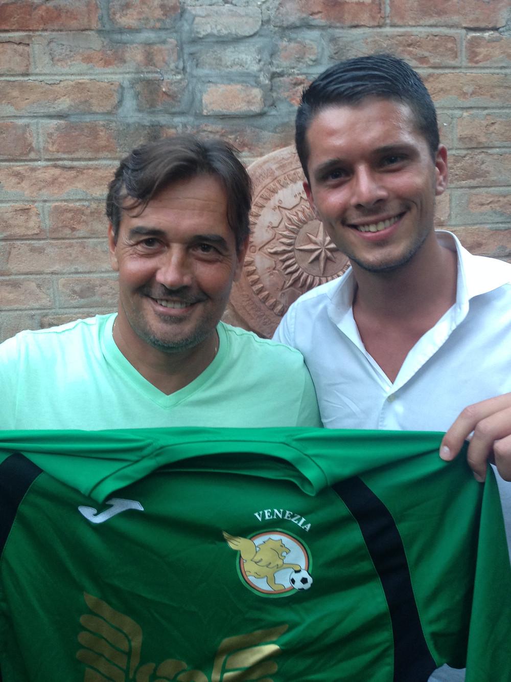 Massimiliano Benatelli con il D.S. del settore giovanile Matteo Casagrande