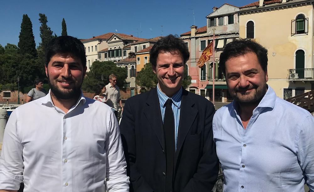 Il neo tecnico Andrea Giana con il Pres. Gianalberto Scarpa Basteri ed il DS Cernigliaro