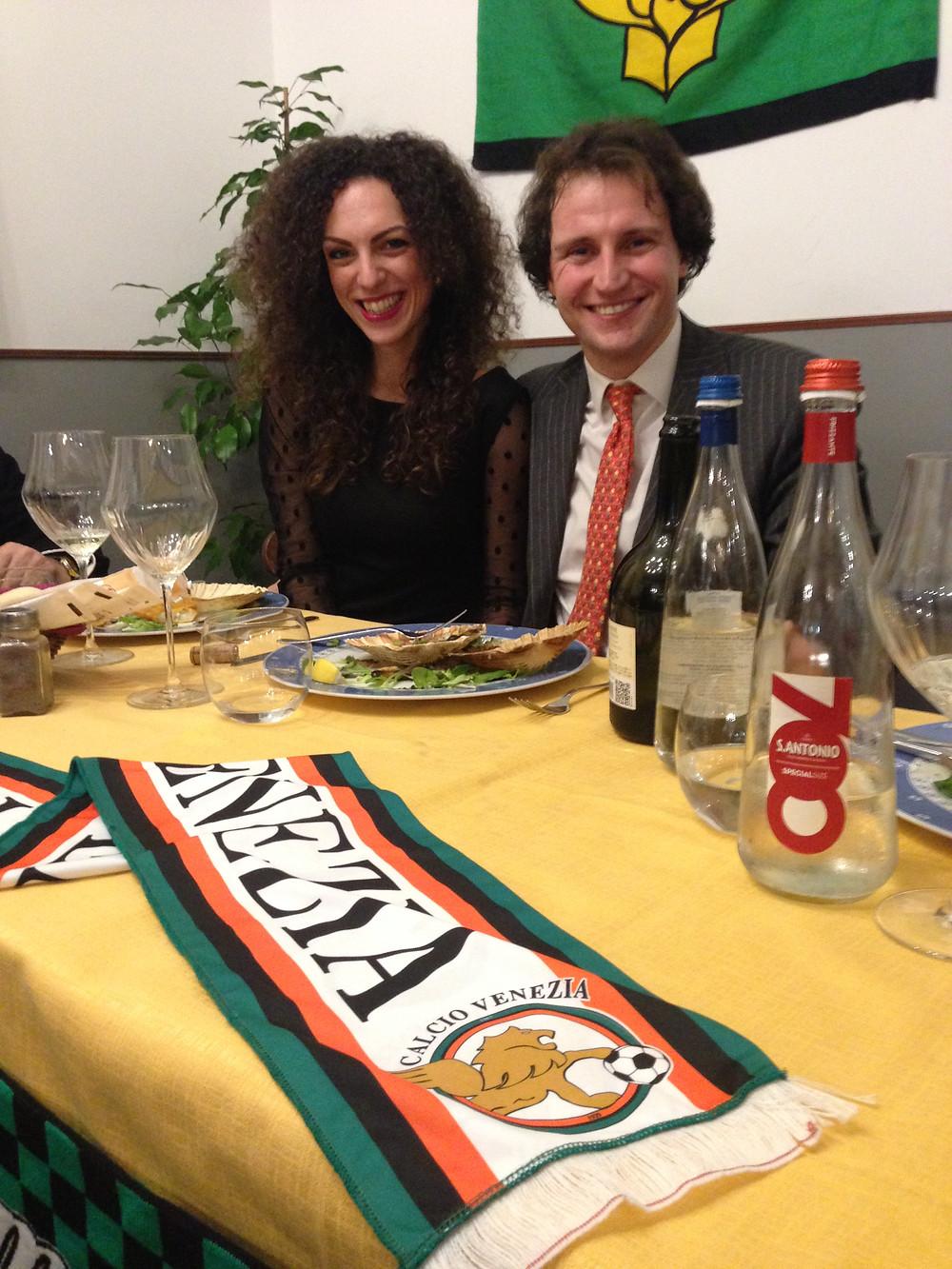 Il presidente avv. Gianalberto Scarpa Basteri con la moglie e vicepresidente Ludovica Leuzzi del Secco