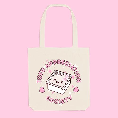 Tofu Appreciation Society Recycled Tote Bag