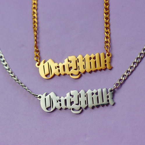 Oat Milk Stainless Steel Necklace