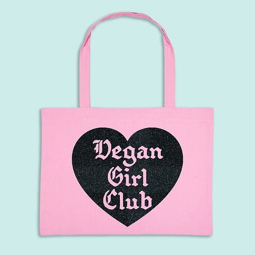 Vegan Girl Club Recycled Shopper Bag