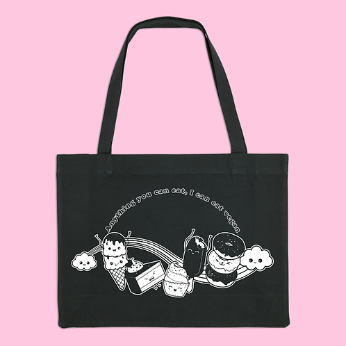 Anything You Can Eat Recycled Black Shopper Bag