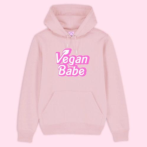 Vegan Babe Organic Pink Hoodie