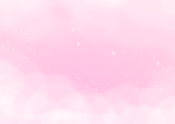 Pastel pink clouds with white sparkles
