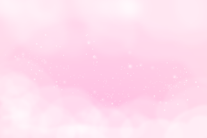 Pastel pink clouds with white sparkles.