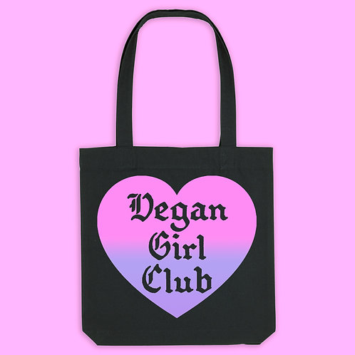 Vegan Girl Club Recycled Tote Bag