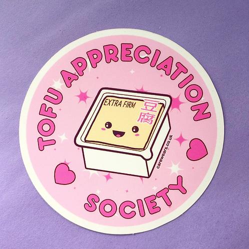 Tofu Appreciation Society Sticker