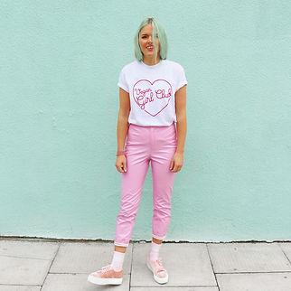 Vegan Girl Club Organic White T-shirt 1