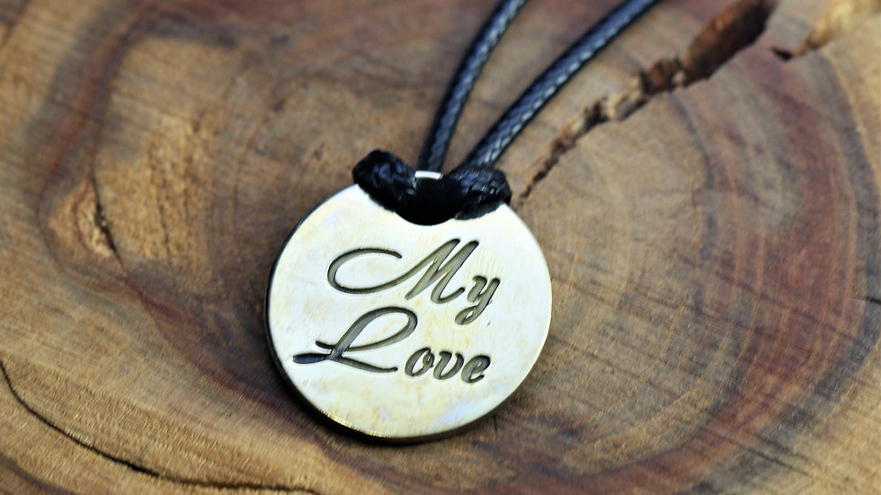 Кулон «MY LOVE» Серебро 925 пробы. Серебряная подвеска.