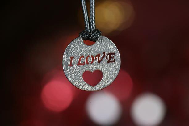 Кулон «I LOVE». Серебро 925 пробы. Серебряная подвеска.