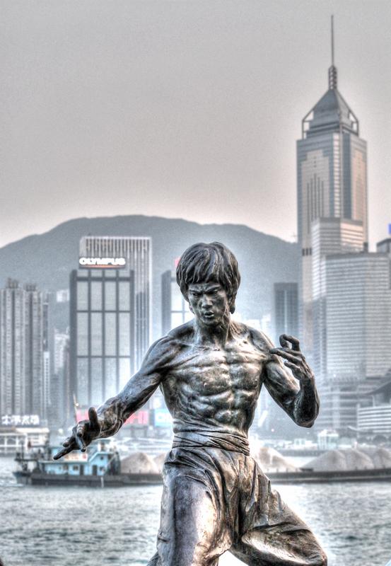 HDR_Bruce Lee,Walk of Fam , HongKong
