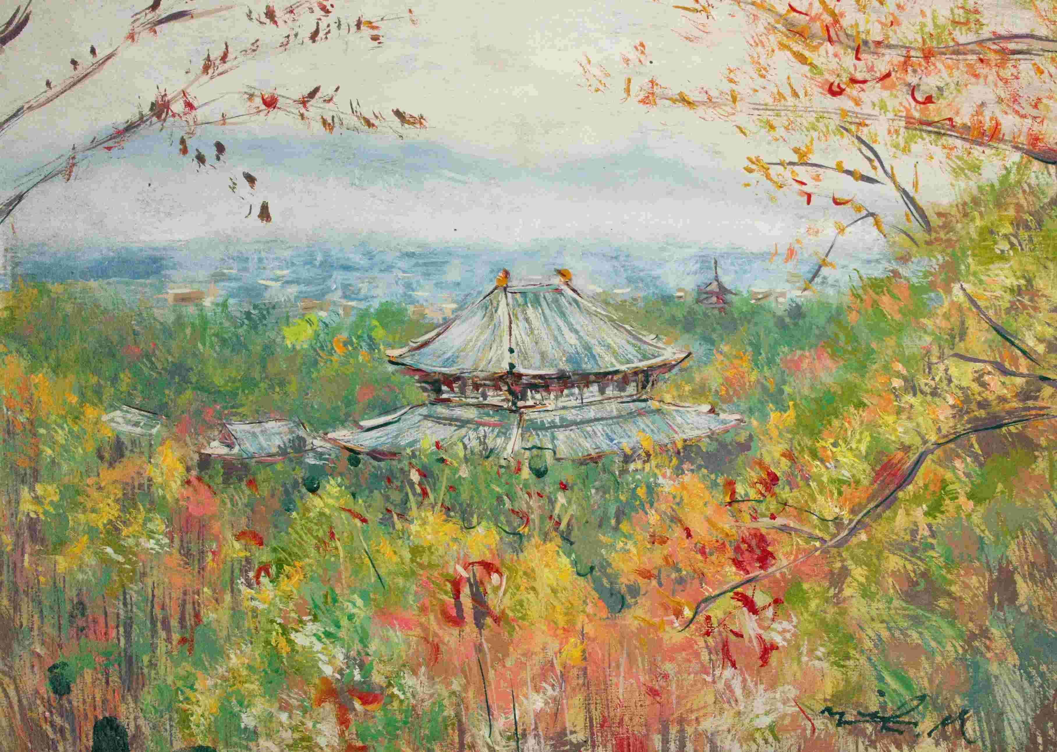 若草山から東大寺