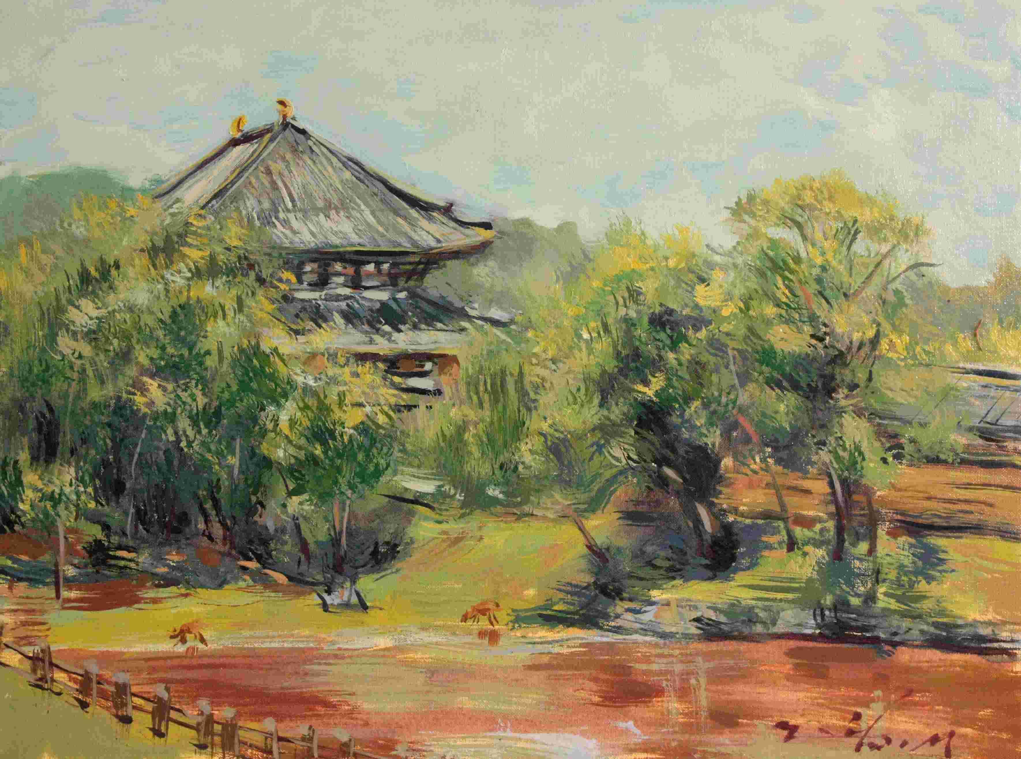 大仏池から東大寺