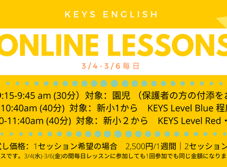3/4-3/6 Online Lessons