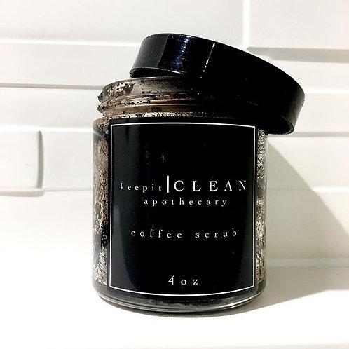 4oz coffee scrub and coffee soap bar