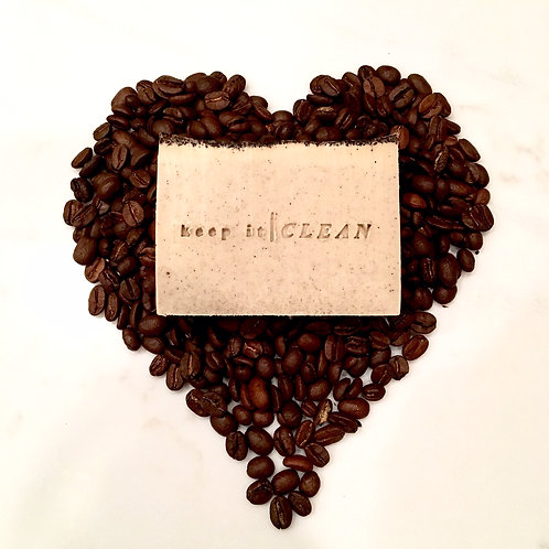 Oatmeal coffee exfoliation soap bar