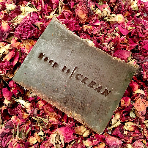 Aloe blend exfoliating soap with roses