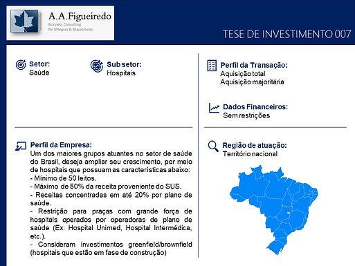 Saúde - Tese de Investimento 007