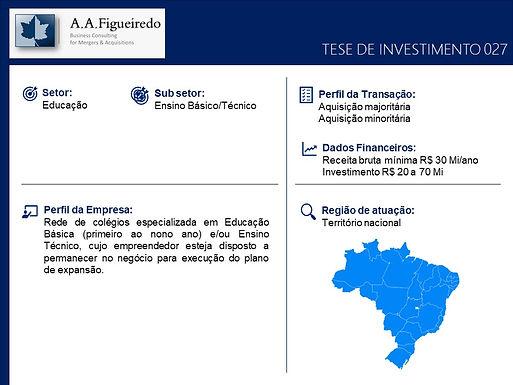 Educação - Tese de Investimento 027