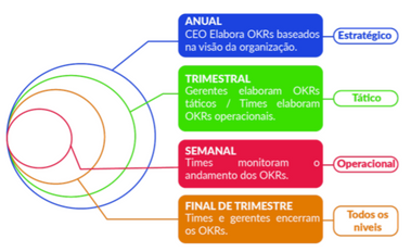 Níveis de OKRs