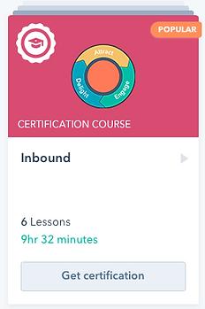 Inbound Certification Course