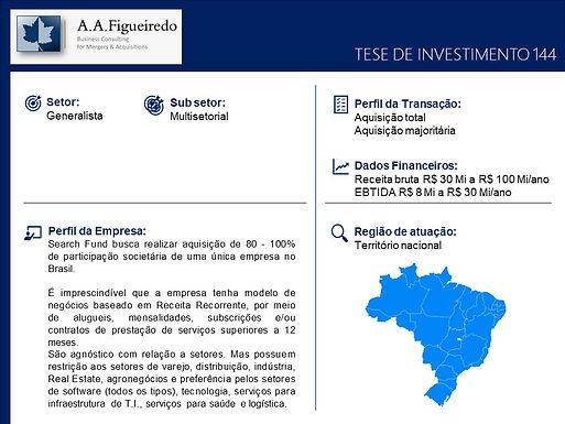 Generalista - Tese de Investimento 144