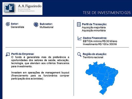 Generalista - Tese de Investimento 026