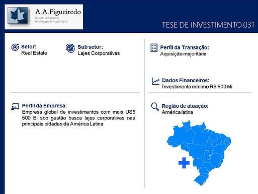 Real State - Tese de Investimento 031