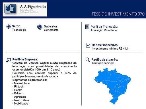Tecnologia - Tese de Investimento 070