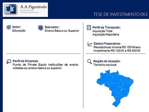 Educação - Tese de Investimento 063
