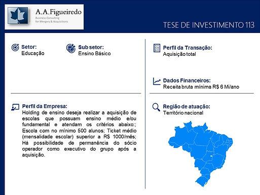 Educação - Tese de Investimento 113