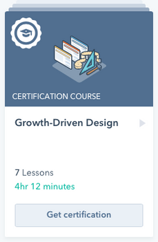 Growth-Driven Design Certification Cours