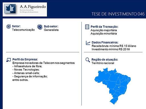 Telecomunicações - Tese de Investimento 046