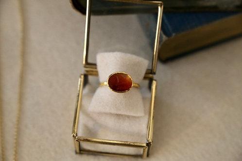Ring aus Gelbgold und Feingold  mit anitkem Carneol- Siegel