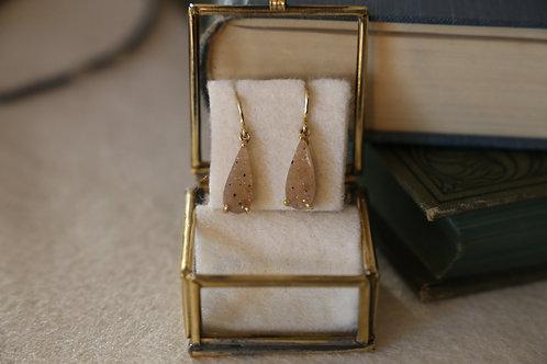 Ohrringe aus Feingold   mit braunen Achat-Kristallen