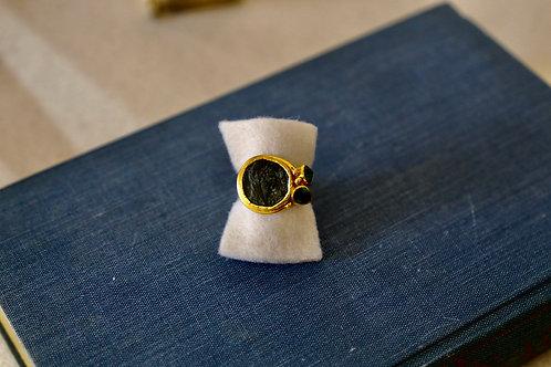 Ring aus Silber und Feingold