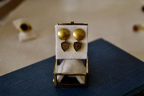 Ohrringe aus Gold  mit Turmalinscheiben