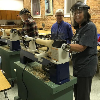 I'm teaching a woodturning class at the
