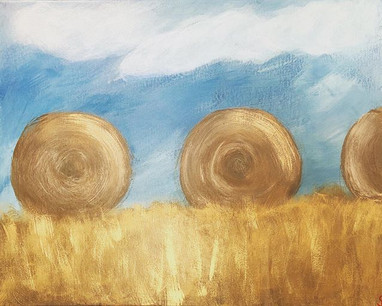 Hay bales. #farmgirl #scarletterouse #ac