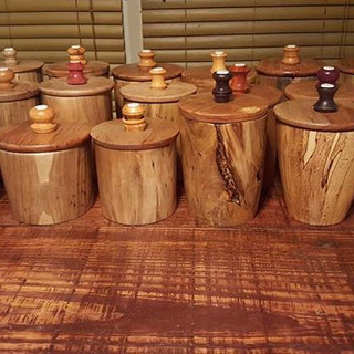 20 Beads of Courage boxes that I turned.