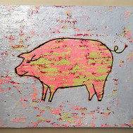 A new pig painting. #acrylicpainting #nc