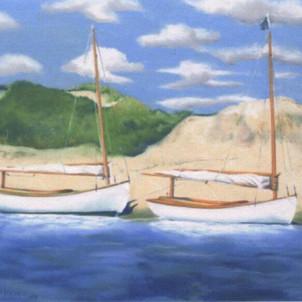 Catboats at Sandy Beach